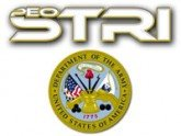 PEO STRI with Department of the Army Logo AVT Simulation White Background