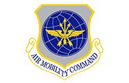 United states Air Force Air Mobility Command Logo AVT Simulation White background