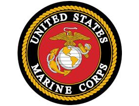 United States Marine Corps black and red logo no background AVT
