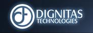 Dignitas Technologies Logo AVT Simulation blue background gradient