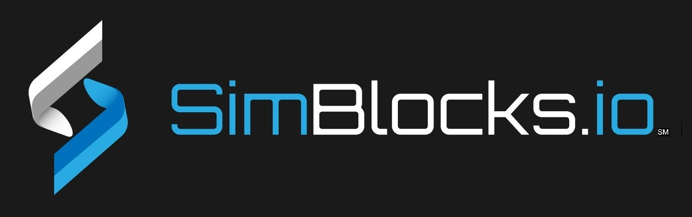 SimBlocks.io black background logo