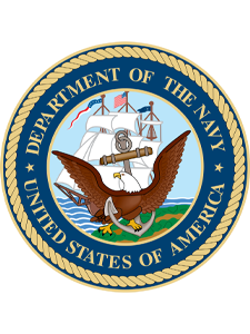 Department of the Navy logo and AVT Simulation