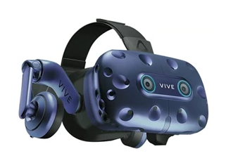HTC VIVE Pro Eye VR Headset - AMOLED - Photo Credited by HTC and Dell